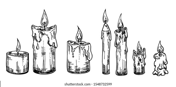 Candle Sketch High Res Stock Images | Shutterstock