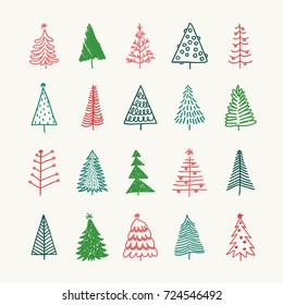 Christmas Illustrations.Hand Drawing Christmas Tree Images Stock Photos Vectors