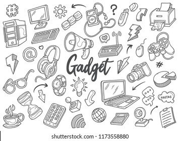 Hand drawn set of Gadget doodles in vector. in this picture you can get some illustrations of gadget. very good for your design background needs, such as your presentation design, and banners.