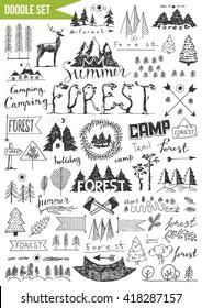 Hand drawn set - Mountains
