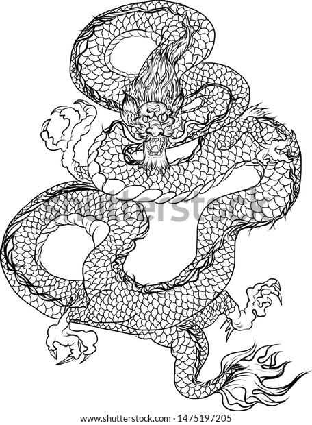 Japanese Dragon Coloring Pages | Dragon's Rose by OhKey-FreeFlyer ... | 620x456