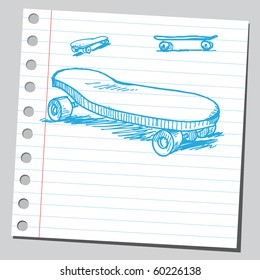 Hand drawn skateboards