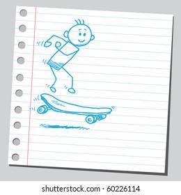 Hand drawn skater