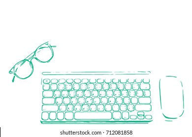 Keyboard Drawing Images, Stock Photos & Vectors | Shutterstock