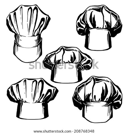 cd4507d4 Hand Drawn Sketch Illustration Collection Hats Stock Vector (Royalty ...