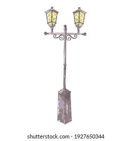 Hand drawn Sketch of Lantern. Vector Illustration