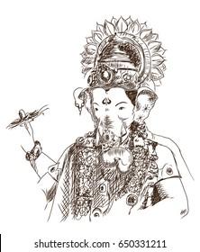 Ganesh Sketch Images Stock Photos Vectors Shutterstock