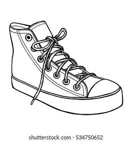 Converse Stock De IlustracionesImágenes Y Sneakers Vectores Sobre UVMpqSzGL