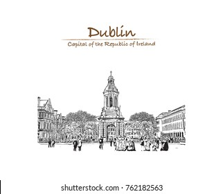 Dublin Sketch Images, Stock Photos & Vectors | Shutterstock