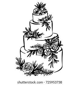 Wedding Cake Sketch Images Stock Photos Vectors Shutterstock