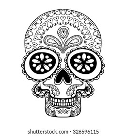 Skull Coloring Page Images, Stock Photos & Vectors ...