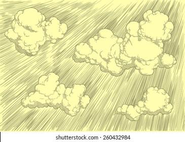 Hand drawn sky.8 EPS