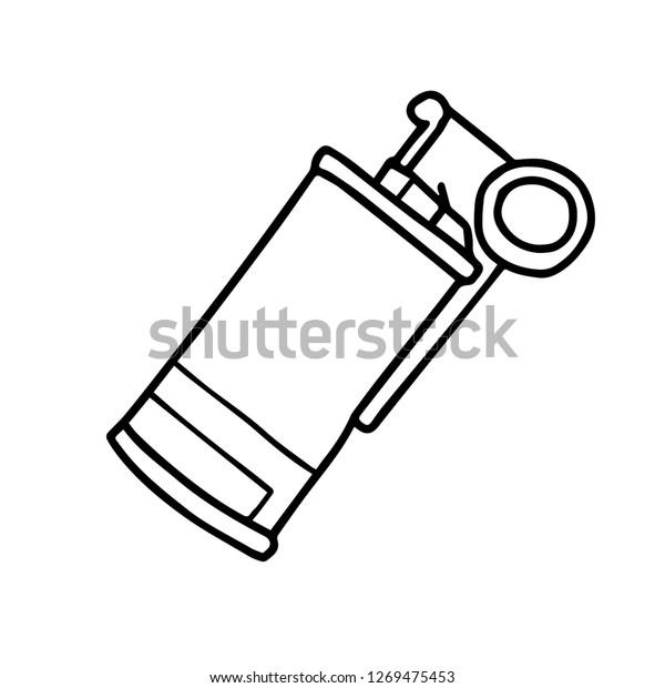 Hand Drawn Smoke Bomb Supply Pubg Stock Vector Royalty Free