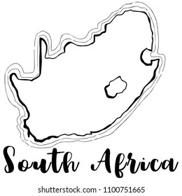 South Africa Line Icon Images, Stock Photos & Vectors   Shutterstock