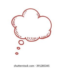 Hand drawn speech bubble. Vector doodle illustration