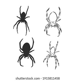 Hand Drawn Spider Illustration - Vector Design Element For Halloween And Other Compositions. spider, vector sketch illustration