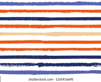 Hand drawn striped seamless pattern vintage background for wallpaper. Painted stripes lines watercolor vector. Trendy fashion texture linen textile background. Cool seamless striped pattern.