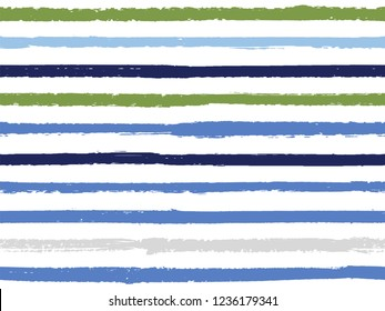 Hand drawn striped seamless pattern vintage background for wrapping. Painted stripes in watercolor style vector. Modern fashion texture linen textile background. Hand drawn seamless striped pattern.