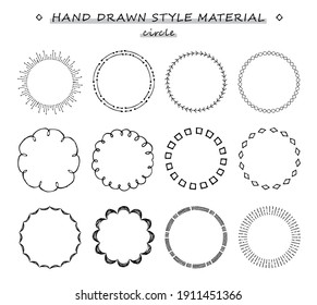 hand drawn style circle set