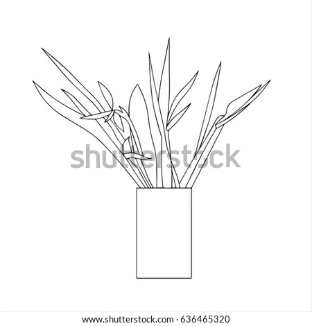 Hand Drawn Stylized Outline Flower Vase Stock Vector (Royalty Free on flower spring outline, hibiscus flower outline, flower book outline, flower planter outline, flower house outline, exotic flower outline, flower box outline, jar outline, flower print outline, flower sign outline, flower painting outline, flower white outline, flower cross outline, flower wall outline, flower plant outline, antique flower outline, flower garden outline, flower wreath outline, flower tree outline, grecian urn outline,