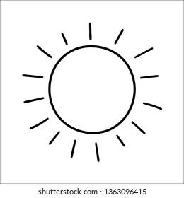 hand drawn sun drawing