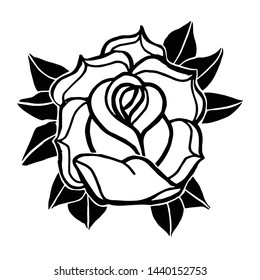 Hand Drawn Tattoo Style Rose