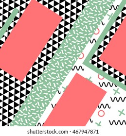 Hand drawn textures. Vector. Retro style pattern. Modern abstract design