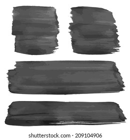 Hand drawn thick wet black strokes
