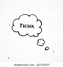 Hand drawn think bubbles