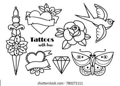Simple Tattoo Designs Images Stock Photos Vectors Shutterstock