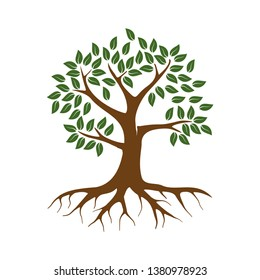 hand drawn of tree vector illustration, nature elements, eps 10