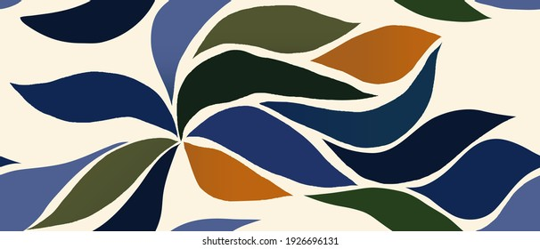 Hand drawn trendy minimal abstract pattern. Creative collage contemporary seamless pattern. Fashionable template for design. - Shutterstock ID 1926696131