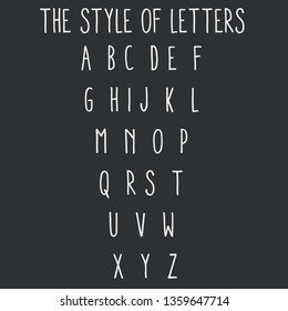 Hand drawn typeface set isolated on white. Brush painted characters: lowercase and uppercase. Vector logo font. Typography alphabet for your designs: logo, typeface, card, wedding invitation