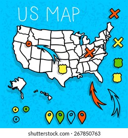 Cartoon United States Map Images Stock Photos Vectors Shutterstock - Cartoon-map-of-the-us