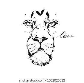 Lion Outline Images Stock Photos Vectors Shutterstock This clipart image is transparent backgroud and png format. https www shutterstock com image vector hand drawn vector abstract artistic ink 1052025812