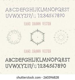 hand drawn vector alphabet vintage collection