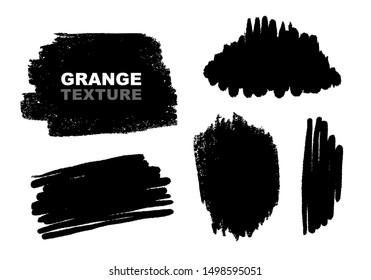 Hand drawn vector backgrounds, grunge spots, brush strokes