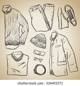 Designer Clothes to Draw Stock Illustrations, Images