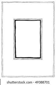 Hand drawn vector framework, doodle cartoon style