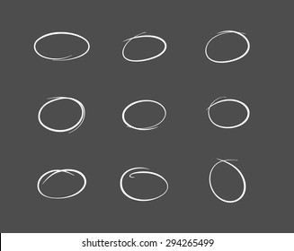 Hand drawn vector highlight marks