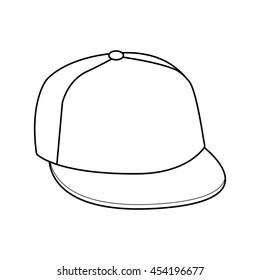 Hand drawn vector illustration of cap