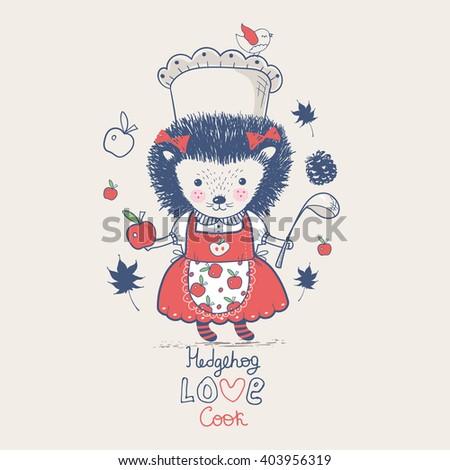 Hand Drawn Vector Illustration Cute Baby Stock Vector Royalty Free
