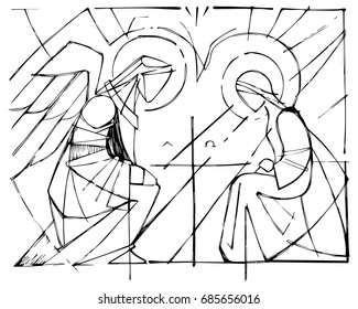 Angel Gabriel visits Mary – 10 Minutes of Quality Time | 280x325