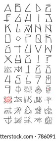 Hand drawn vector illustration or drawing of an urban religious typography and symbols