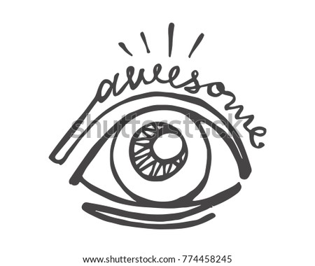 Hand Drawn Vector Illustration Drawing Eye Stock Vector Royalty