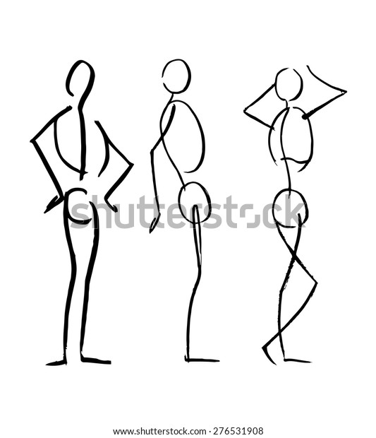 Hand Drawn Vector Illustration Drawing Different Stock Vector Royalty Free 276531908