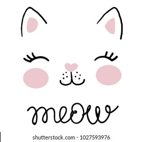 Cat Face Images Stock Photos Vectors Shutterstock