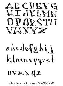 Hand drawn vector illustration of a handwritten typography