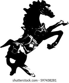 Hand drawn vector illustration of horse