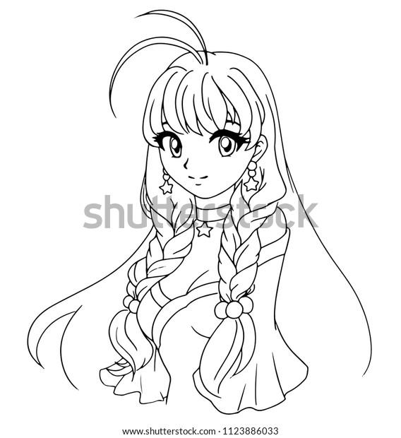 Hand Drawn Vector Illustration Kawaii Anime Stock Vector (Royalty ...